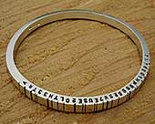 Women's personalised barcode bangle