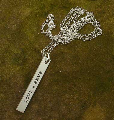 Women's personalised necklace