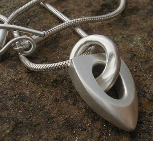 Womens Silver Designer Necklace