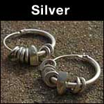 Silver earrings image link
