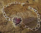 Women's silver heart chain bracelet