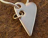 Women's silver heart necklace