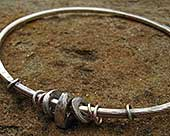 Women's sterling silver bangle