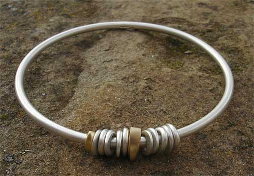 Unique Gold & Silver Bangle