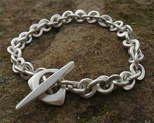 Womens Unique Silver Chain Bracelet