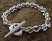 Women's unique silver chain bracelet