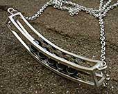 Womens unique silver necklace