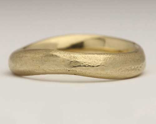 Womens Unusual Gold Wedding Ring LOVE2HAVE in the UK
