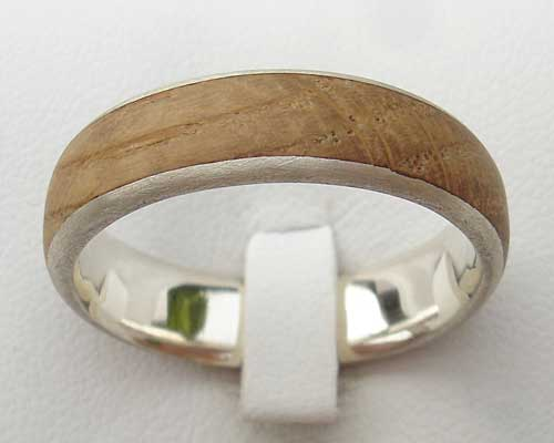 Inlaid wood ring