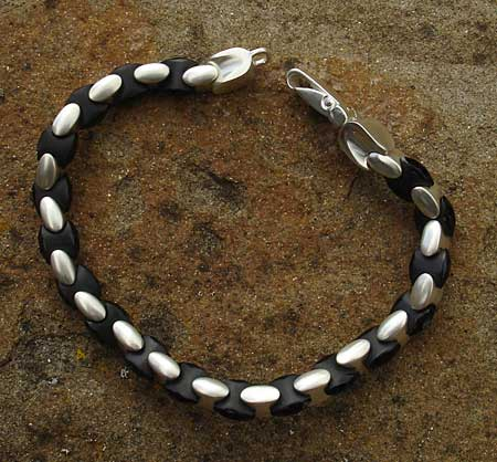 Yin and yang designer bracelet